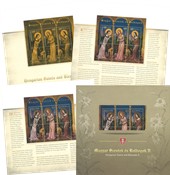 Ungarn - 3 Helgener - Postfriske miniark i folder. Oplag kun 10.000 stk. Michel værdi 261 kr