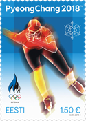 Estonia - Winter olympics in Pyeongchang 2018 - Mint stamp