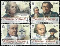 Pitcairn Øerne - William Bligh - Postfrisk sæt 4v *Slaget på Reden*