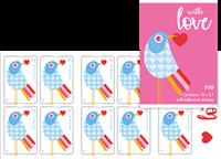 Australien - Love 2018 - Postfrisk hæfte med 10 mærker