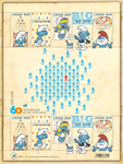 Belgium - Smurfs 60 years - Mint souvenir sheet