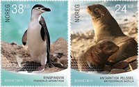 Norge - Bouvet Øens sæler og pingviner - Postfrisk sæt 2v