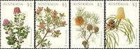 Australie - Plantes Banksia - Série neuve 4v