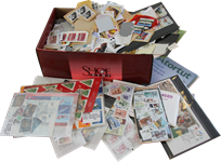 Shoebox with interesting content and extra good items