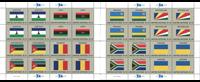 Verenigde Naties - Vlaggen 2018 - Set postfrisse velletjes
