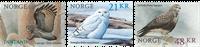 Norge - Rovfugle - Postfrisk sæt  3v
