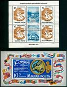 Ungarn - 2 forskellige stemplede miniark