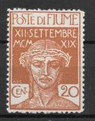 Fiume 1920 - AFA 112 - Postituore