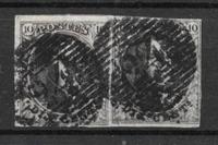 Belgia 1849 - AFA 3a - couple - leimattu