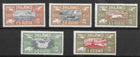 Islanti 1930 - AFA 142-146 - Käyttämätön liimakkeella