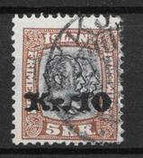 Islanti 1925 - AFA 141 - leimattu