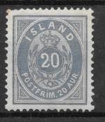 Islanti 1882 - AFA 14a - Käyttämätön liimakkeella