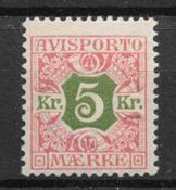 Danmark 1907 - Avisp. AFA 9 - ustemplet