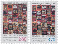 France - Timbres service YT TS112-113 - Neuf