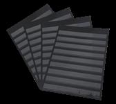 Ficha clasificadora A4 Leuchtturm - negro sin bolsa