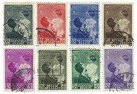 Belgien 1937 - OBP 447-54 - Stemplet