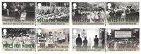 诺菲集邮,英国女性获得选举权100周年纪念 - 新票套票8枚