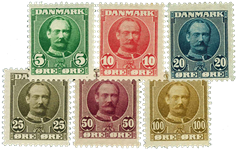 Danmark 1907 - AFA nr. 54-59 - Postfrisk