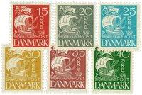 Danmark 1927 - AFA 169-74 - postfrisk