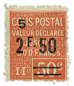 Frankrig - Pakkeporto YT 64 - Ubrugt