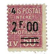 Frankrig - Pakkeporto YT 75 - Postfrisk