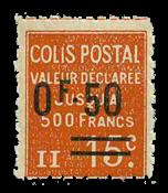 Frankrig - Pakkeporto YT 55 - Ubrugt