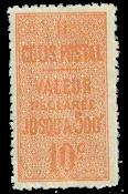 Frankrig - Pakkeporto YT 6 - Postfrisk