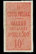 France - Colis postaux YT 1 - Neuf sans charnières