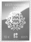 Estonie - Centenaire d'Estonie, timbre en argent - Timbre neuf en argent