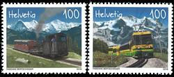 Suisse - Trains - Série neuve 2v
