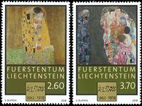 Liechtenstein - Gustav Klimt - Série neuve 2v