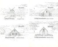 Island - Historiske bygninger - Postfrisk sæt 4v
