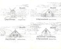 Islande - Bâtiments historiques - Série neuve 4v