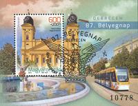 Ungarn - Frimærkets dag - Stemplet miniark