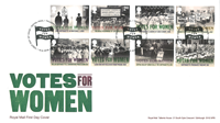 Great-Britain - Votes for Women - First Day Cover