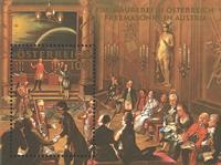 Østrig - Frimurerbevægelsen - Postfrisk miniark