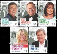 Australien - TV legender - Postfrisk sæt 5v