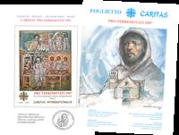 Vatikanet - Jordskælvsminiark - Sjælden folder med miniark - jordskælvsvelgørenhed
