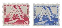 République Démocratique Allemande 1951 - Michel 282-283 - Neuf