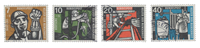 Tyskland 1957 - Michel 270-273 / AFA 1233-1236 - Stemplet