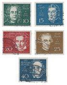 Republique Fédéraled'Allemagne 1959 - Michel 315-319 - Oblitéré