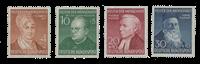 Republique Fédéraled'Allemagne 1952 - Michel 156-159 - Neuf