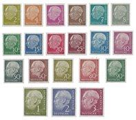 Tyskland 1954 - Michel 177-196 / AFA 1140-1159 - Postfrisk