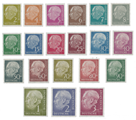 Bundespost 1954 - Michel 177/196 - Postfris