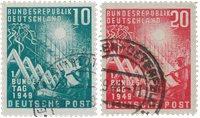 Tyskland 1949 - Michel 111-112 / AFA 1074-1075 - Stemplet