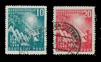 Republique Fédérale d'Allemagne 1949 - Michel 111-112 - Oblitéré