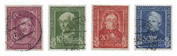 Tyskland 1949 - Michel 117-120 / AFA 1080-1083 - Stemplet