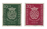 Tyskland 1950 - Michel 121-122 / AFA 1084-1085 - Stemplet