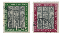Republique Fédéral d'Allemagne 1951 - Michel 139-140 - Oblitéré