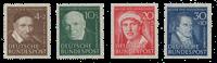 Republique Fédéraled'Allemagne 1951 - Michel 143-146 - Neuf